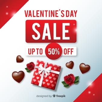 現実的なバレンタインデールの販売の背景