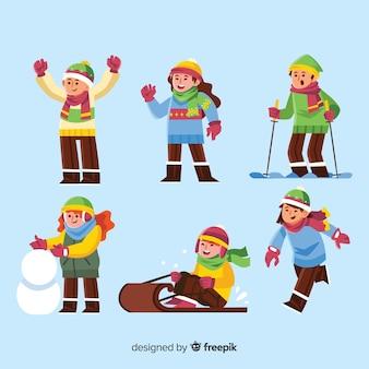 冬の子供のコレクション