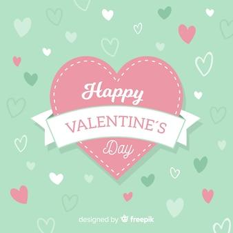 ステッチ心臓のバレンタインの背景