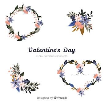 バレンタインの花輪&花束