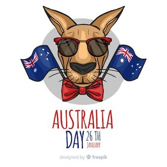手描きのオーストラリアの日の背景