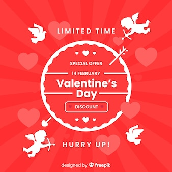 キューピッドのシルエットバレンタインの販売の背景