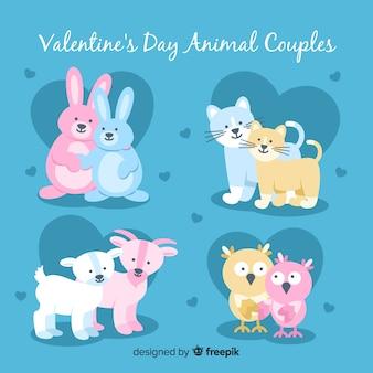 バレンタイン動物のカップルコレクション