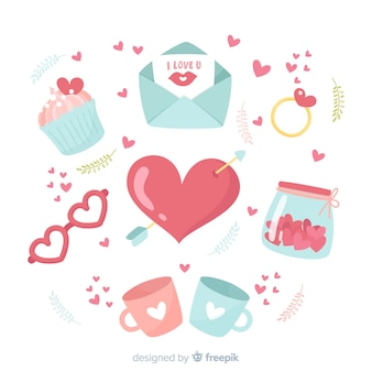 バレンタインデーエレメントコレクション