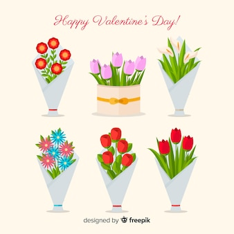 День святого валентина цветочные венки и букеты