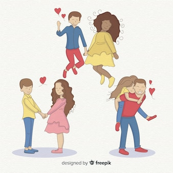 手描きのバレンタインカップルパック