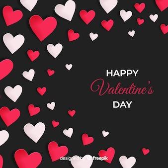 シンプルな心のバレンタインの背景