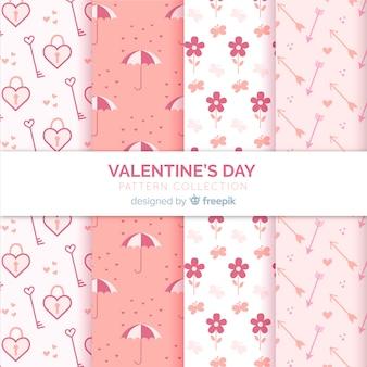 かわいいバレンタインパターン