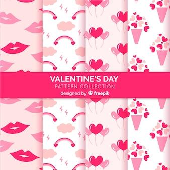 平らなバレンタインパターン