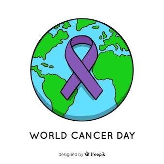 手を引いた世界の癌の日の背景