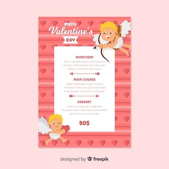 ブロンドのキューピッドバレンタインメニュー