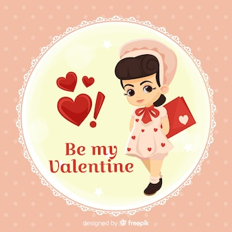人形のバレンタインの背景