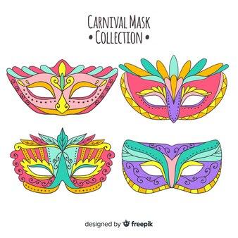 手描きカーニバルマスクコレクション