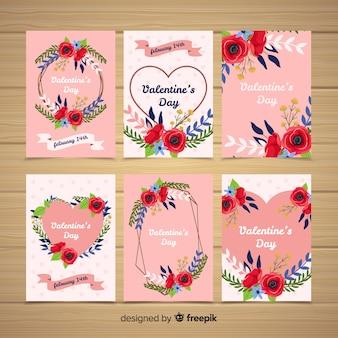 バレンタイン花輪カードコレクション