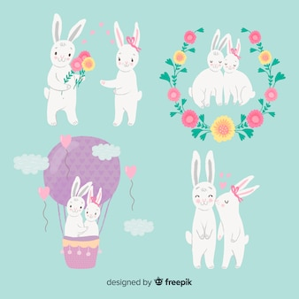 Валентина пара кроликов