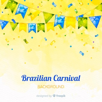 水彩のブラジルのカーニバルの背景