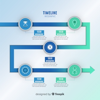 Концепция временной шкалы инфографики