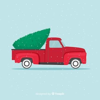 Пикап с елкой