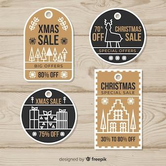 Рождественская коллекция бумажных бирок