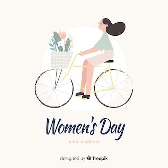 女性の日の背景