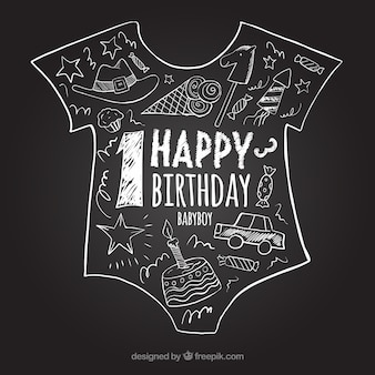 最初の誕生日黒板