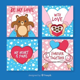 手バレンタインカードコレクション