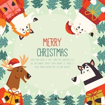 クリスマス動物