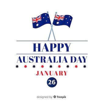 平らなオーストラリアの日の背景