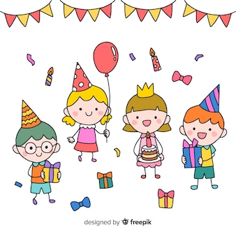 子供の誕生日パーティーの背景