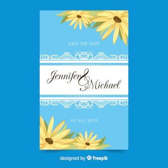 Плоский шаблон свадебной открытки
