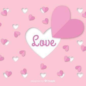 心バレンタイン背景を切り取る