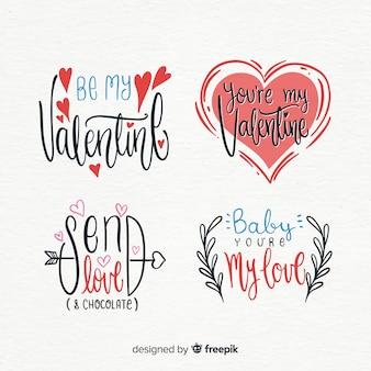 バレンタインデーのバッジコレクション