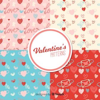 手描きバレンタインパターンコレクション
