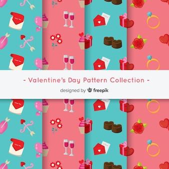 フラットバレンタインパターンコレクション