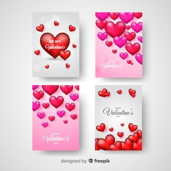 Валентина сердце коллекция карт