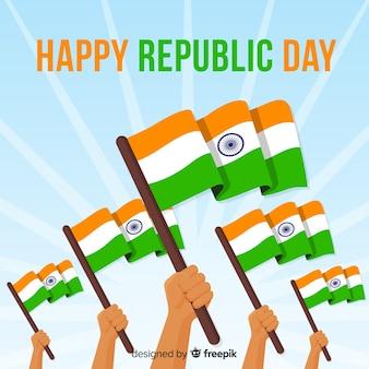 フラットインド共和国記念日の背景