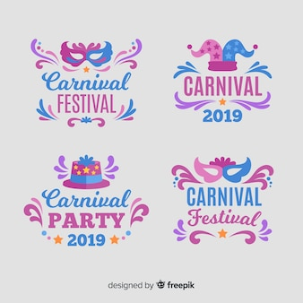 Коллекция карнавальных этикеток