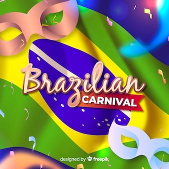 現実的なブラジルのカーニバルの背景