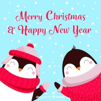 Рождественские пингвины