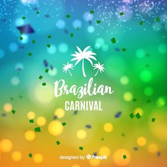 ぼやけているブラジルのカーニバルの背景