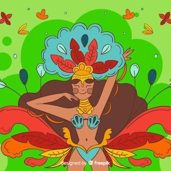 Ручной обращается бразильский карнавал фон