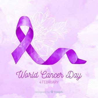 Акварель всемирный день борьбы против рака