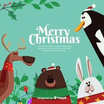 Животные в рождество