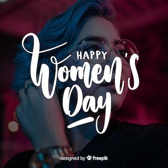 女性の日レタリング