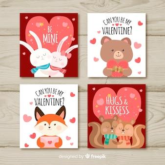 バレンタインの日カードコレクション