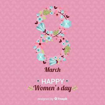 Цветочный женский день фон