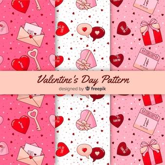 バレンタインデーのパターンコレクション