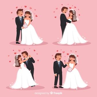 Коллекция символов свадебной пары