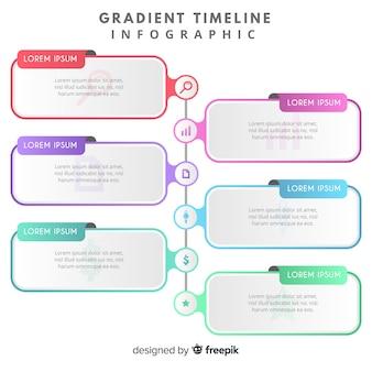 グラデーションインフォグラフィックタイムライン