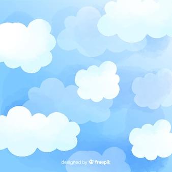 手描きの空の背景
